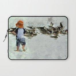 Bird Play Laptop Sleeve