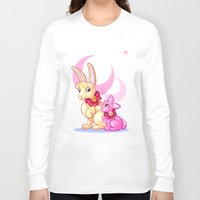 sailormoon Long Sleeve T-shirts featuring Moon Rabbits by Becky Hopkins