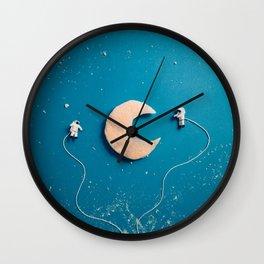 Astronaut Breakfast Wall Clock