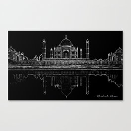 The Reflecting Taj Canvas Print