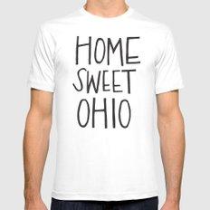 Home Sweet Ohio MEDIUM White Mens Fitted Tee