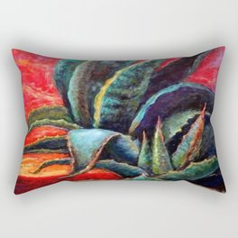 Southwest Desert Agave Cacti Sunrise Rectangular Pillow