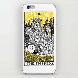 A Floral Tarot Print - The Empress iPhone Skin