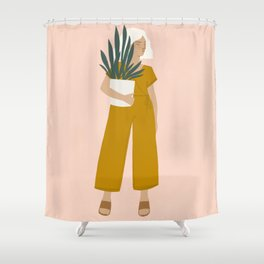 plant shopping Shower Curtain