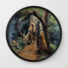 An Old Tree 1859 By Lev Lagorio | Reproduction | Russian Romanticism Painter Wall Clock