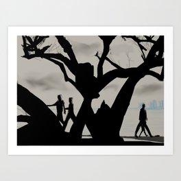 15- Cloudy day in marine drive, Kochi Art Print