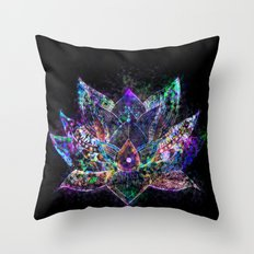 Lotus Flower Glow Throw Pillow