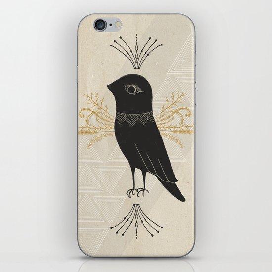 Black Bird iPhone Skin