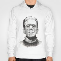 frankenstein Hoodies featuring Frankenstein by calibos