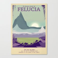 Retro Travel Poster Series - Star Wars - Felucia Canvas Print