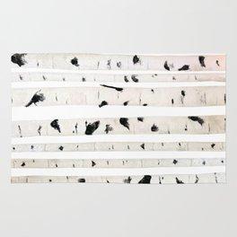 birch watercolor pattern 2018 Rug