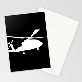 H-60 Military Helicopter Silhouette Stationery Cards