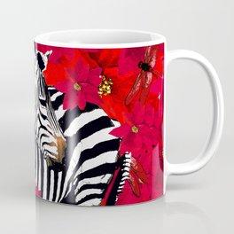 ZEBRA AND FLOWERS Coffee Mug