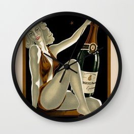 Vintage 1930 Bourgeois Pre-fils Champagne Lithograph Advertisement Poster Wall Clock
