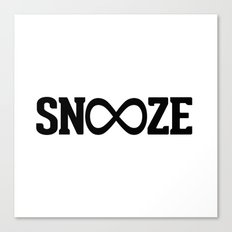 Snooze Forever Pillow Canvas Print