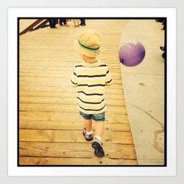 Boy and balloon.  Art Print