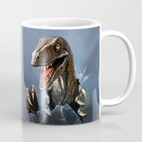 dinosaur Mugs featuring dinosaur by Antracit