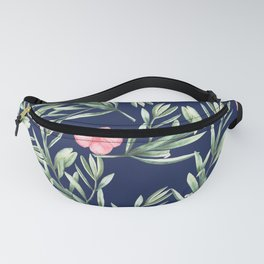 Delicate Hibiscus Blue Fanny Pack