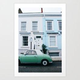 Notting Hill Door Fronts Art Print