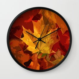 Autumn Whispers Wall Clock