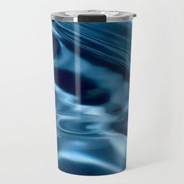 Deep Blue Drip Travel Mug