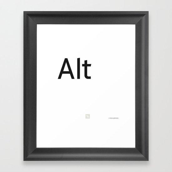 Alternative Framed Art Print