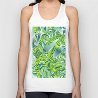 lime green Tank Tops featuring lime worm by Healinglove art products