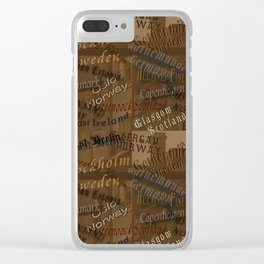 See the World Travel Plans Clear iPhone Case