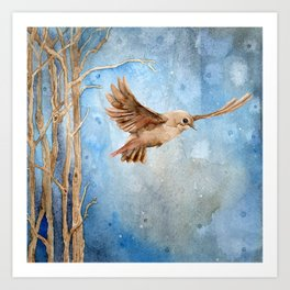 Snow Wanderer Art Print