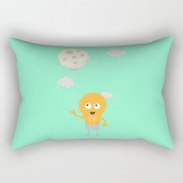 light bulb switch on the moon Be7r4 Rectangular Pillow