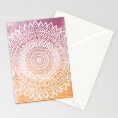 SUMMER LEAVES MANDALA Stationery Cards