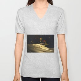 Autumn! Take me with you away from a dreadful winter! Unisex V-Neck