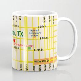 Map of Houston TX #1 Coffee Mug