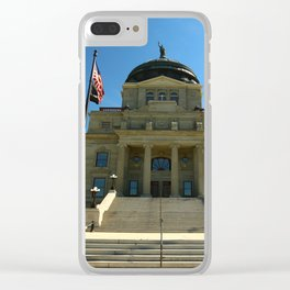 Montana State Capitol Clear iPhone Case