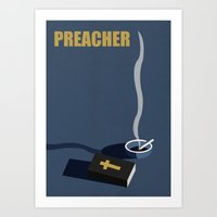 Preacher Minimalist Poster Art Print