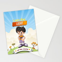 I am the Light of the world. Stationery Cards