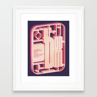 mf doom Framed Art Prints featuring MF Doom Cage by Justin C. Henry