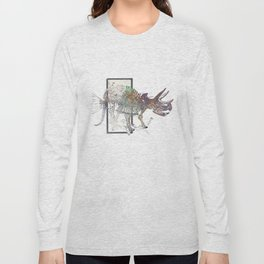 rose-Fish-bone dinosaur Long Sleeve T-shirt