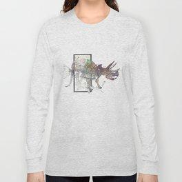rose-Fish-bone dinosaur Long Sleeve T-shirt