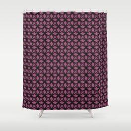 Rose Black Replay Shower Curtain