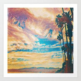 Palm Trees By The Sea Art Print