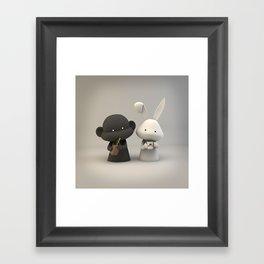 Coffee & Chocolate Milk Framed Art Print