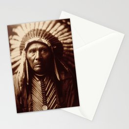 Three Horses by Edward S. Curtis (1905) Stationery Cards