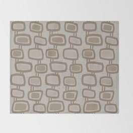 Dangling Rectangles in Brown Throw Blanket