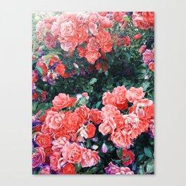 Psychedelic summer florals Canvas Print