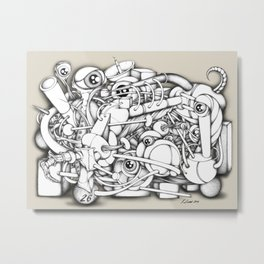 A Tangled Mess V1 Metal Print