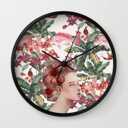 Lost in Blindfulness Wall Clock