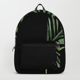 Black Palm Leaf Backpack