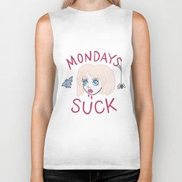 Mondays SUCK! Vampire Girl Biker Tank