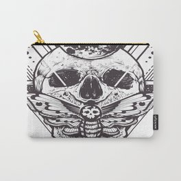 Skull And Triangle Geometric Patterns Carry-All Pouch